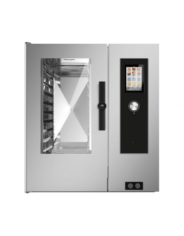 Forno a convezione ventilato professionale elettrico 10 teglie gn GN 2/1 - Comandi Touch Screen