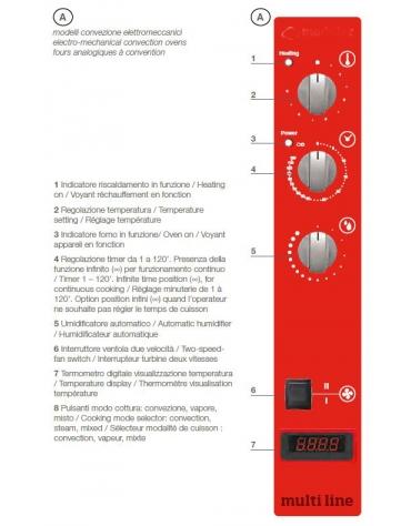Forno a gas ventilato a convezione gastronomia 5 Teglie GN 1/1