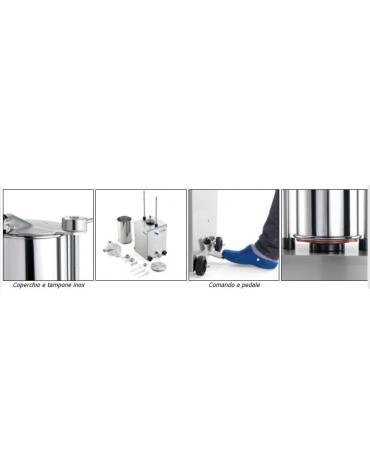 Insaccatrice idraulica verticale litri 15