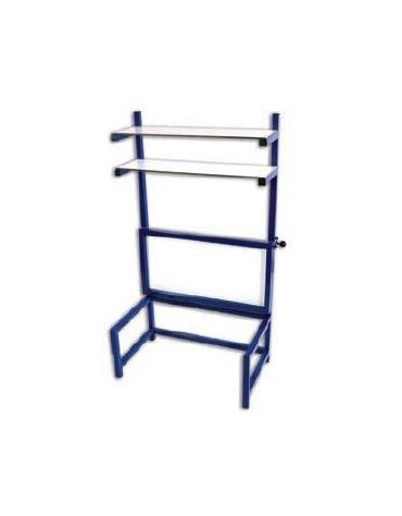 Panchina per disabili, struttura di acciaio, piano ribaltabile di cm 100x60