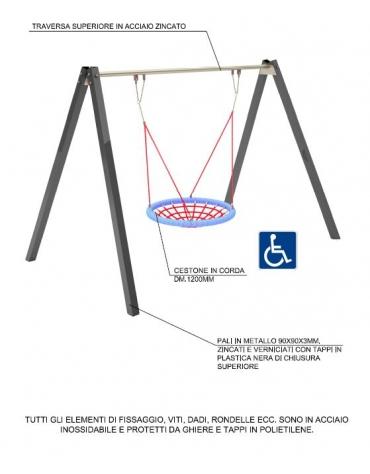 Giostra per bambini con disabilità