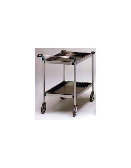 Carrello a due piani inox cm 80x50 arredamento for Arredamento sanitario