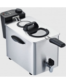 Friggitrice elettrica da banco in acciaio inox - linea economica - 1 vasca, 6 Lt. - mm 265x410x290h