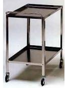 CARRELLO A DUE PIANI INOX CM.70X50