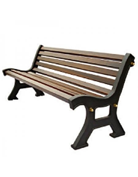 Panchine In Ghisa Da Esterno.Panchina Con Struttura In Ghisa Doghe In Legno Di Pino Russo Cm 170x54x74h