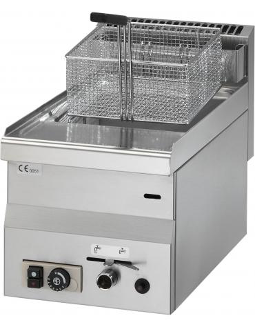 Friggitrice a gas 1 vasca capacita' 8 lt cm 30x60x28h