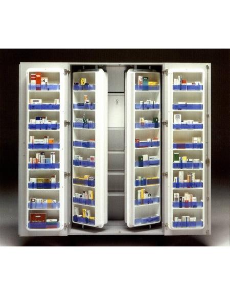 Armadio portamedicinali con mobiletto interno per for Arredamento sanitario