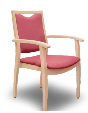 Sedia imbottita - senza braccioli - con base rotante - tessuto - rosso - cm 60X47X46/59h