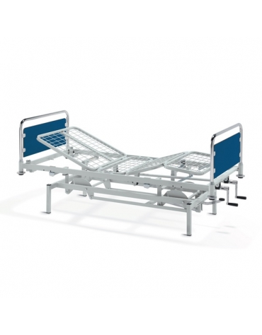 Letto degenza ospedaliero -  3 snodi - elettrico - altezza variabile - ruote - cm 92x207x95h