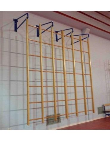 Quadro svedese in legno a 36 fori oscillante. Dim. cm 350 x 350
