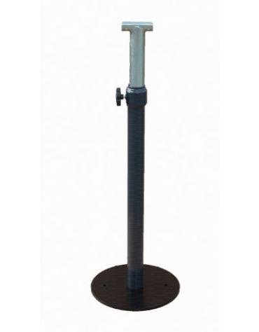 Coppia supporti a pavimento regolabile in altezza per sbarra danza. Base Diam. cm 32