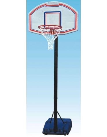 Mezzo impianto basket/minibasket con zavorra riempibile, altezza reg. manualmente.