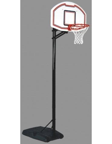 Mezzo impianto basket/minibasket con zavorra riempibile nuovo sistema a scatto per posizionamento altezza tabellone.