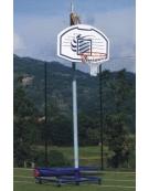 Mezzo impianto basket/minibasket su ruote autobloccanti mod. Scuola.