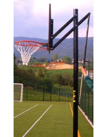 Impianto basket/minibasket tabelloni plexiglass mod. Orlando Dim. cm 117 x 73