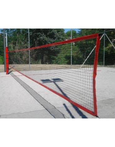 Impianto beach volley e beach tennis in acciaio zincato a caldo per esterni.
