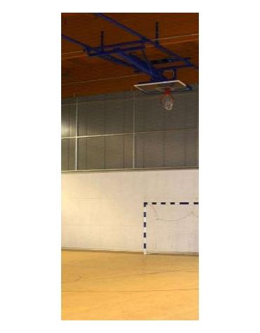 Impianto basket a soffitto elettrificato norme FIBA