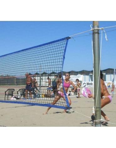 Rete beach volley - beach tennis - racchettoni, maglia 42x42 mm., banda perimetrale in PP
