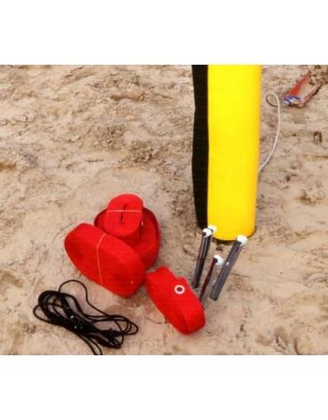 Nastro beach volley segna campo.