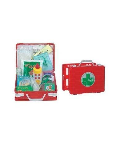 Cassetta di medicazione in abs, portatile o applicabile a muro, completa di accessori.