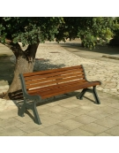Panchina Roma con listoni di pino
