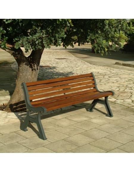 Panchina roma con listoni di pino panchine in legno ed for Arredo giardino roma