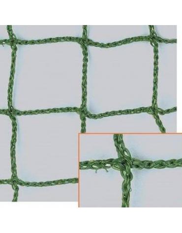 Rete separazione campo tennis in polietilene, colore verde, maglia 45x45 mm.