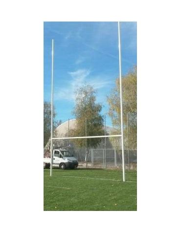 Coppia porte Rugby in alluminio altezza 11,00 metri fuori terreno.