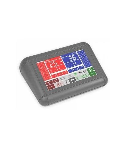Consolle principale di pilotaggio con schermo touchscreen, adatta sia per tabelloni con segnale via cavo che radio