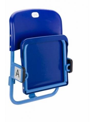 Scocca con struttura in acciaio verniciato sedile ribaltabile con schienale.
