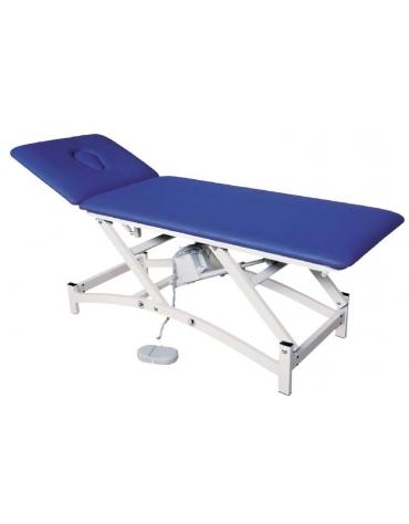 Lettino massaggi a 2 segmenti regolabile elettricamente. Dim. 190 x 65 x 47/80 H