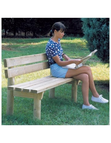 Panchina per giardino in legno di pino Rustica