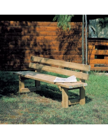 Panchina Moderna interamente in legno di pino nordico
