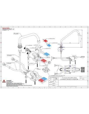 Kit miscelatore pedale + bocca