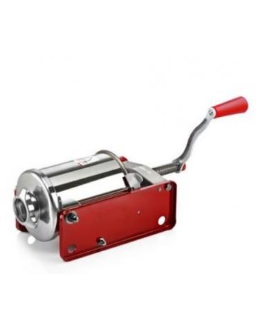 Insaccatrice orizzontale manuale in acciaio inox colore rosso - capacità 3 Lt.