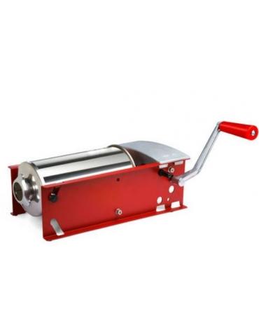Insaccatrice orizzontale manuale pistoni in Moplen inox colore rosso - capacità 8 Lt.