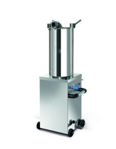 Insaccatrice verticale idraulica in acciaio inox -  Lt. 15 - Trifase