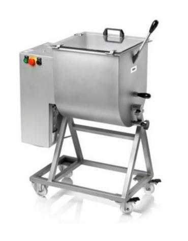Impastatrice per carne CARRELLATA monopala KG. 50 - TRIFASE
