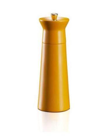 Macinapepe manuale in legno - macine in acciaio - Altezza 15 cm - Colore Arancione