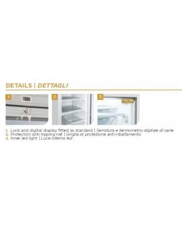 Congelatore verticale statico Porta a vetri - cm 59,5x64x184h
