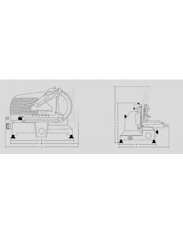 Affettatrice verticale salumeria lama 30(braccio a colonnina)