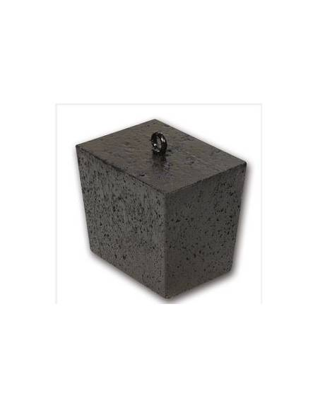 Blocco zavorra per impianti basket mobili, in cemento, peso kg 50