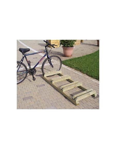 portabici in legno rastrelliera per bici eco arredo