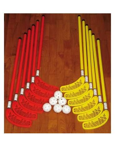 Set unihoc base con 6 palline e 12 mazze - fino a 14 anni