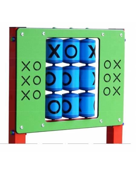 Gioco d'attività stile streetfood, srtuttura in alluminio,pannelli in HDPE e funghi in polietilene - cm 141x93x130h