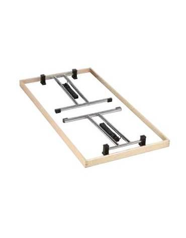 Tavolo pieghevole piano in melaminico - faggio o bianco  Struttura in acciaio cromato cm L. cm. 160 - P. cm. 80 - H. cm. 73