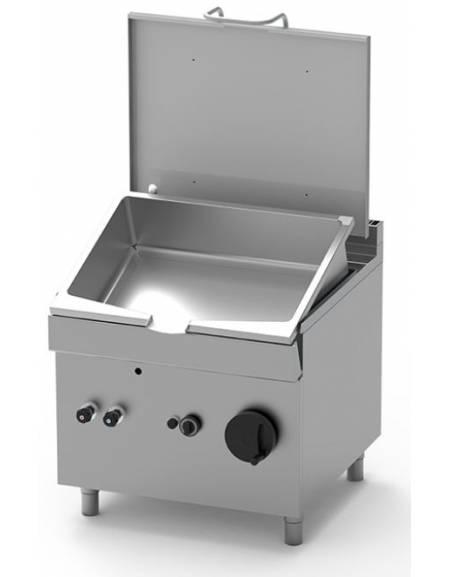 Brasiera a gas con ribaltamento manuale - Vasca inox Lt. 85 - DIMENSIONI CM.80x90x85h