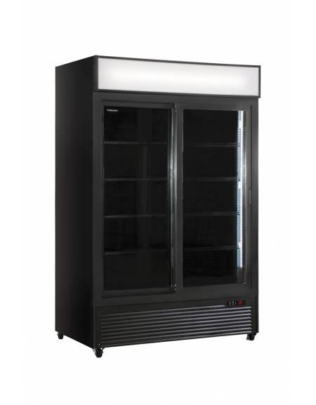 Vetrina refrigerata per bevande e bibite doppia porta scorrevole - CM 94X61,5X198,3H