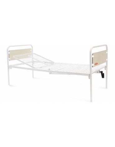 Letto ospedaliero a 2 sezioni-Alzaschiena a manovella-C/pannelli