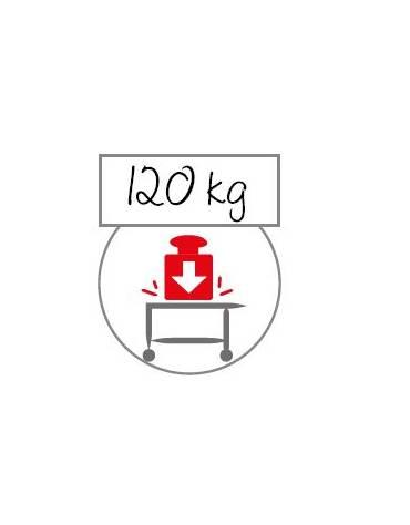 Carrello inox con N° 2 Piani stampati imbullonati-cm 89x59x95h